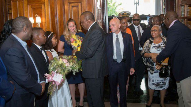 President Uhuru Kenyatta, who is on an official visit to the US